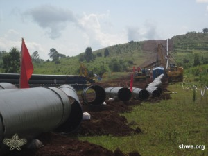 company-worker-working-on-connet-pipeline-at-the-construction-site-outside-of-kyaukmae